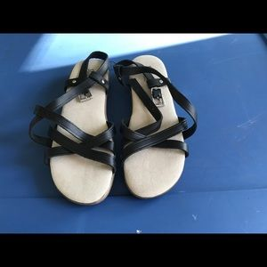 Ladies black Bass Sunjuns Sandals